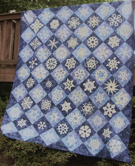 Snowflake Quilt by Nifty Fifty Quilters Of America Snowflake Quilts