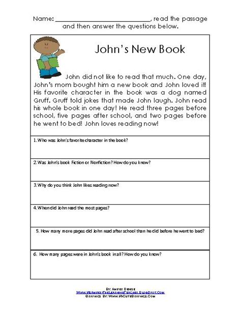 Grade 4 Comprehension Worksheets Free by Printables Comprehension Passages For Grade 4