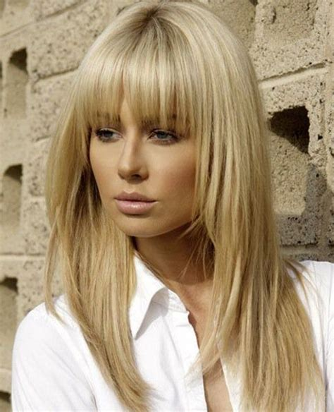 hair styles with slanted fringes 25 best ideas about full fringe hairstyles on pinterest