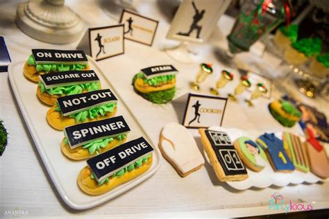 themes ckirckit games kara s party ideas sporty cricket themed birthday party