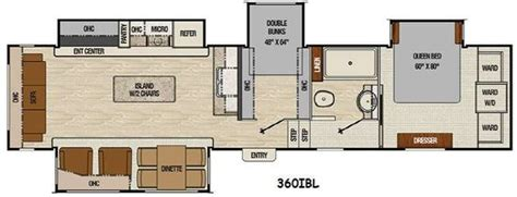 bunkhouse 5th wheel floor plans floor plan coachmen chaparral 360ibl fifth wheel bunk