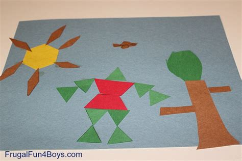 art using pattern blocks pattern block art frugal fun for boys and girls