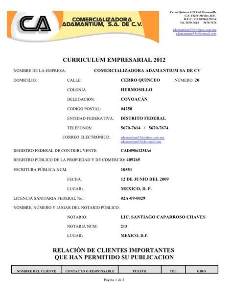 Modelo Curriculum Vitae Empresarial Modelo De Curriculum Empresarial Modelo Curriculum