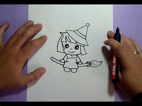 imagenes de brujas faciles para dibujar como dibujar una bruja paso a paso 7 how to draw a witch