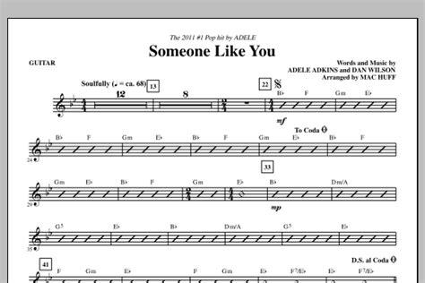 tutorial guitar someone like you someone like you guitar sheet music direct