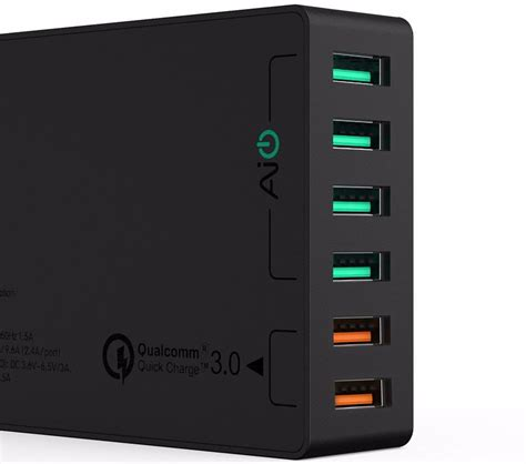 Aukey Charger Mobil 4 Port 55w 2 4a Qc 3 0 Aipower Cc T9 1 aukey charger usb 6 port 60w 2 4a qc3 0 aipower pa t11 black jakartanotebook