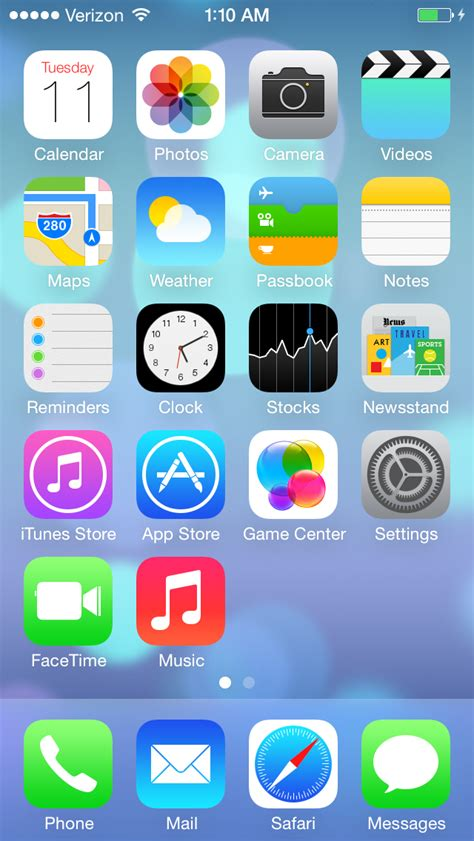 ios 7 home screen iphone informer