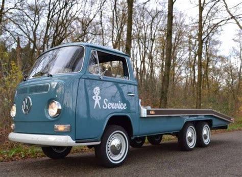 vintage volkswagen truck 1972 volkswagen type 2 tandem axle flatbed german cars