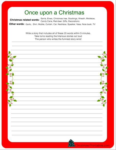 printable christmas stories free printable christmas games