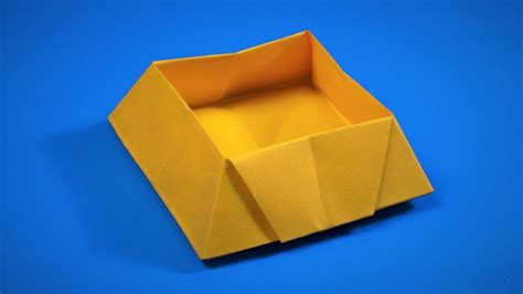 How To Make A Paper Box Origami - how to make a paper box origami box my crafts and
