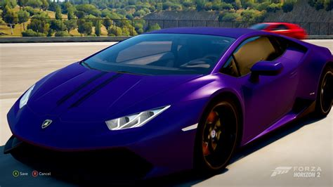 lamborghini dark purple forza horizon 2 making lana rose s purple lamborghini