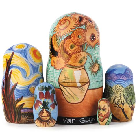 vincent gogh vase with twelve sunflowers vincent gogh vase with twelve sunflowers matryoshka