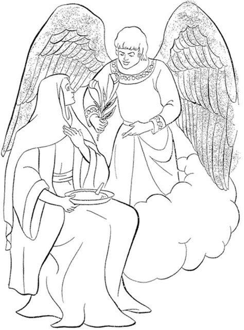 coloring page angel gabriel angel gabriel and mary clipart 66