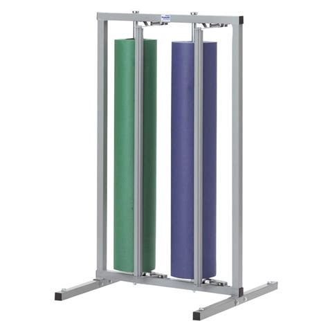 paper rack 48 quot vertical paper dispenser cutter holds 2 rolls
