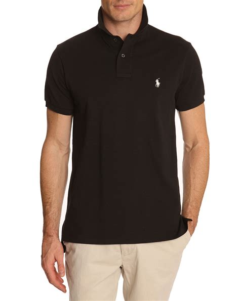 Ralph Poloshirt by Polo Ralph Black Slim Fit Stretch Polo Shirt In