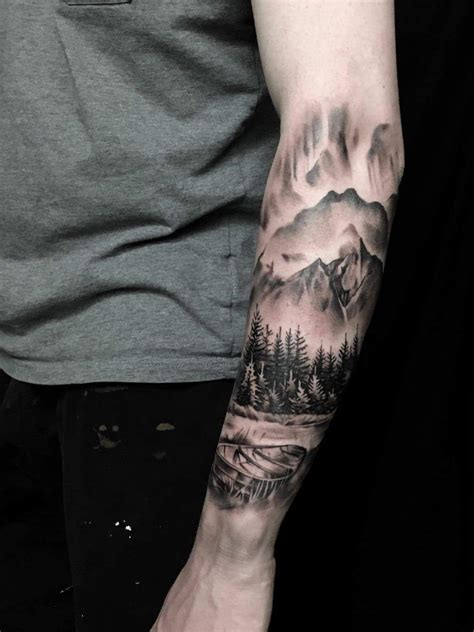 japanese mountain tattoo designs landscape by bjarke andersen at sinners inc