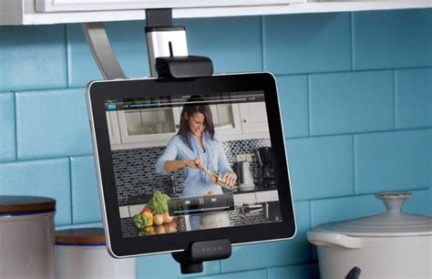 under cabinet tablet holder high tech kitchen gadgets to drool over