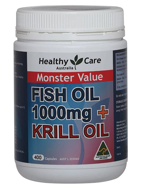 Healthy Care Fish 400softgel Australia healthy care krill omega 3 fish 1000mg 400 kapsul