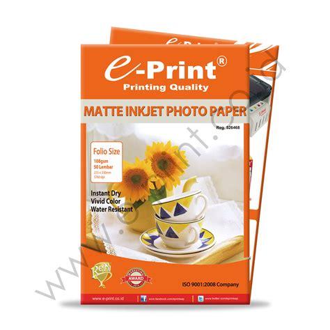Kertas Foto Matte matte inkjet photo paper folio 108gsm e print