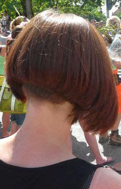 trimming a stacked bob high clippered nape bob haircuts pinterest