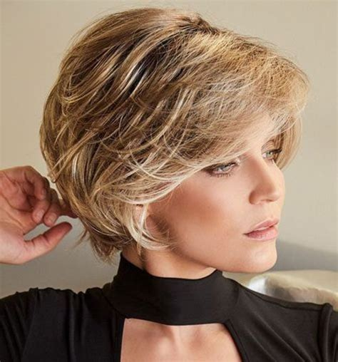 elegant short haircuts  thick hair