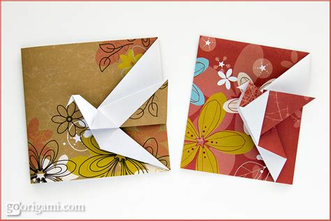 Origami Cards To Make - origami animals and characters gallery go origami