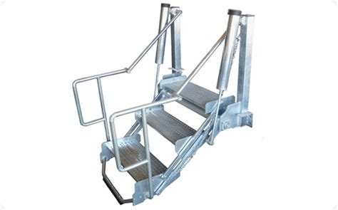 foldable stairs aktek technology engineering folding stairs