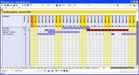 12 Vacation Calendar Template Excel Exceltemplates Exceltemplates Employee Vacation Planner Template Excel