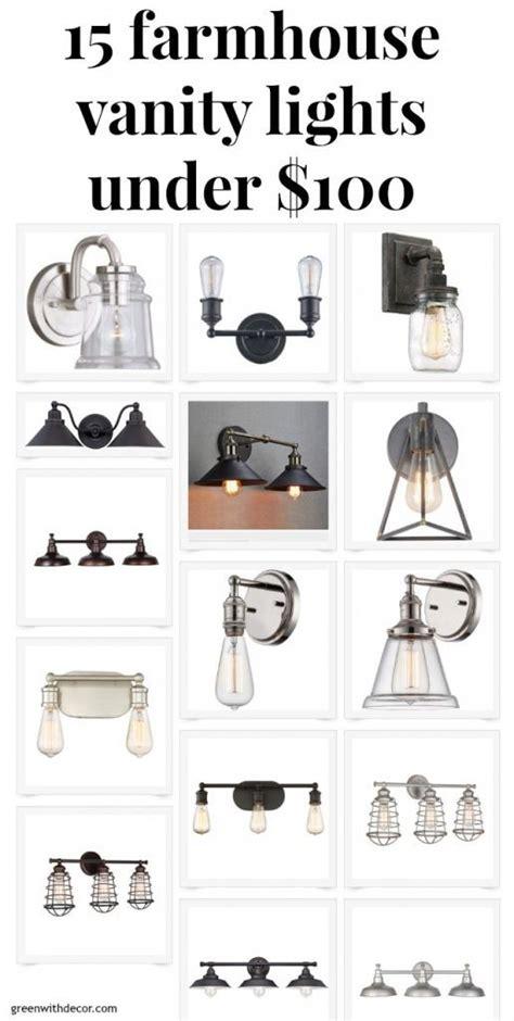 farmhouse style bathroom light fixtures liz 15 farmhouse vanity lights on a budget farmhouse fixer home decor