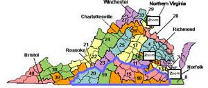 Virginia Senate District Map by Greater Richmond Region