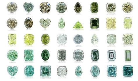 colors of diamonds fancy green diamonds their mystical and value