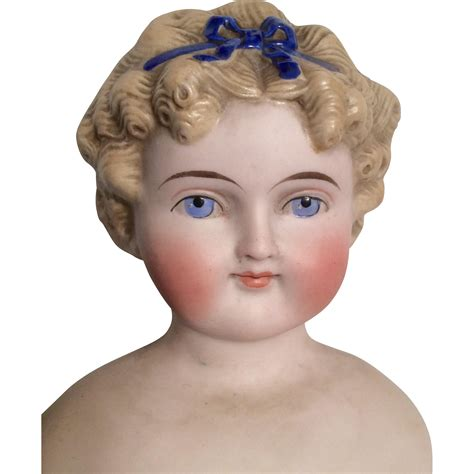 parian bisque doll beautiful parian type tinted bisque molded hair bow