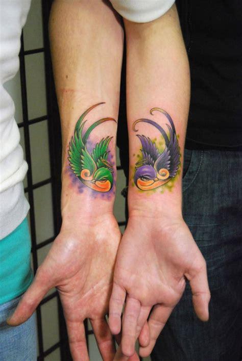 43 Stunning Wrist Couples Tattoos Bird On Wrist