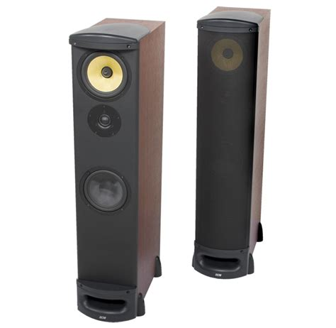 Speaker Tower tfe100 6 5 quot dcm 8 ohm tower cabinet speaker cherry mtx audio serious about sound 174