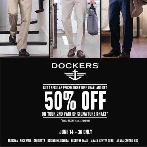 dockers outlet printable coupons dockers signature khaki promo june 2013 manila on sale