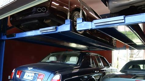bendpak tandem vehicle storage  car parking lift youtube