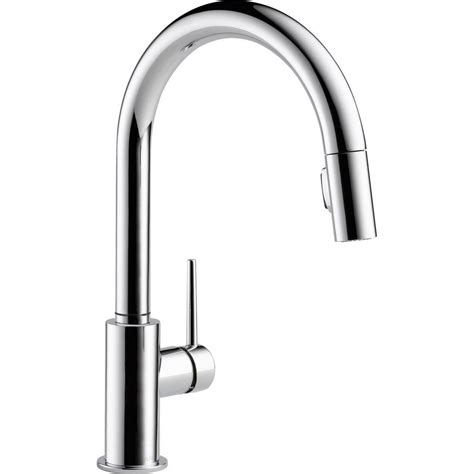 Delta Single Handle Kitchen Faucet With Spray Delta Trinsic Single Handle Pull Sprayer Kitchen Faucet With Magnatite In Chrome