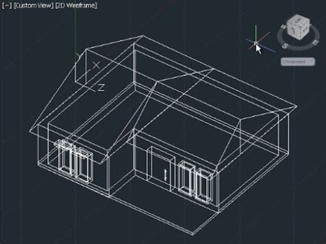autocad 3d house modeling tutorial beginner basic