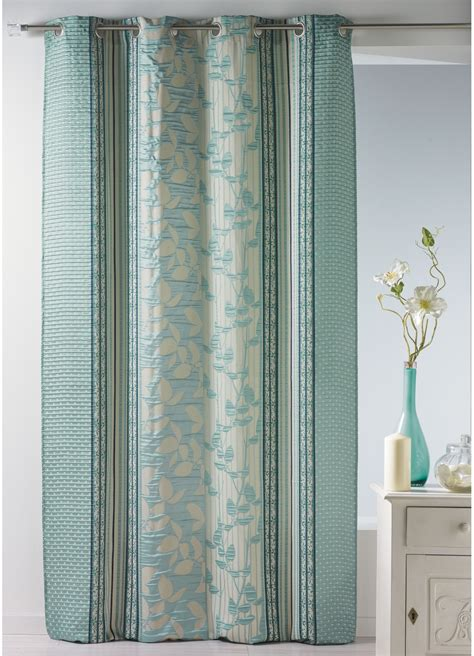 Bouchara Rideaux by Rideau Bouchara En Jacquard 224 Rayures Verticales Fleuries
