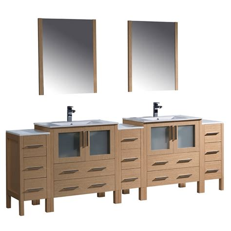 96 inch bathroom vanity torino 96 inch light oak modern sink bathroom
