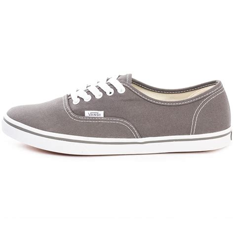 Vans Authentic Grey White vans authentic lo pro gyq195 womens canvas laced trainers grey white
