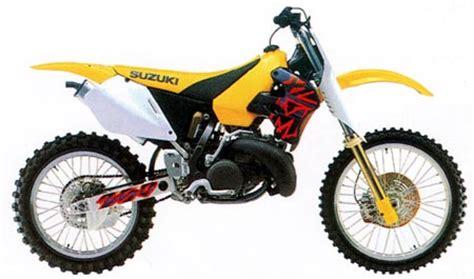 1997 Suzuki Rm 250 Suzuki Rm250 And Rmx250 Model History