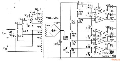 circuit diagram of 1kva automatic voltage regulator