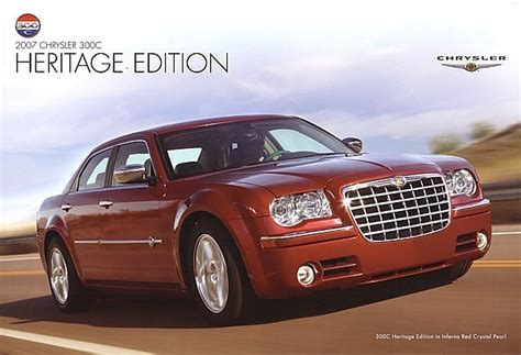 chrysler 300c heritage edition 2007 chrysler 300c heritage edition sales brochure catalog