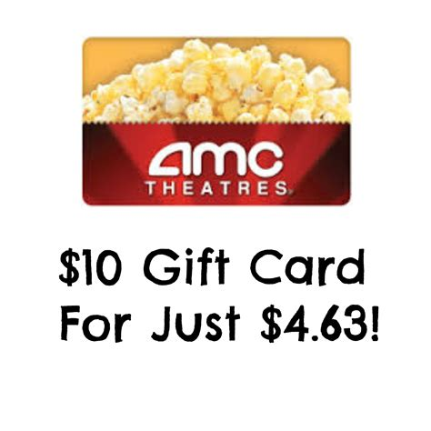 Amc Gift Cards At Cvs - hot 10 amc theaters gift card just 4 63