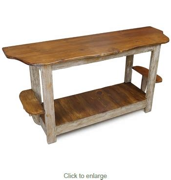 sofa with wood sides rustic wood sofa table with side shelves