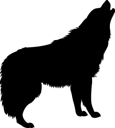 House Silhouette howling wolf silhouette clipart 2228928