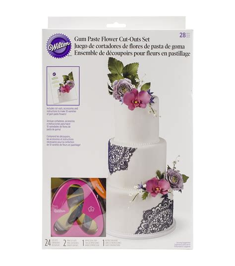 Flower Set wilton gum paste flower cutter set at joann