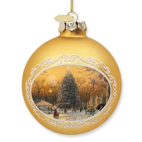 kinkade ornaments kinkade town square ornament at treasures
