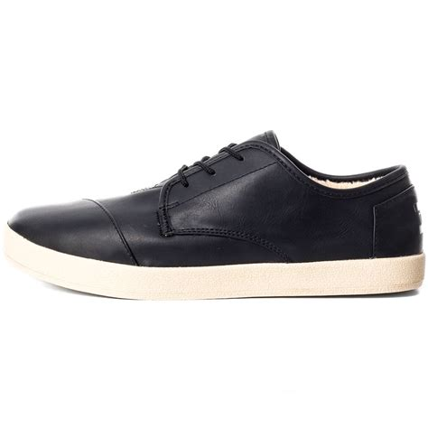 toms paseos mens casual shoes in black